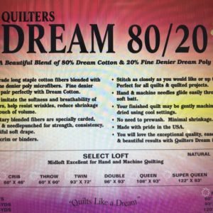 Quilters Dream 80/20 Blend Batting