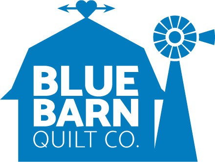 blue barn quilt co logo