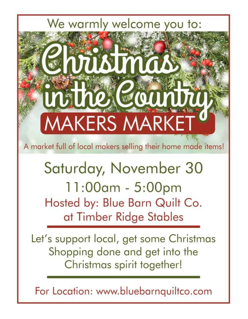 Christmas in the Country Makers Market