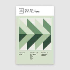 Pine Falls quilt pattern, the blanket statement, Erin Kroeker, Canadian, beginner