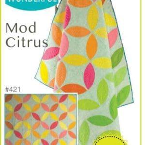 Mod Citrus quilt pattern, QCR, quick curve ruler, sew kind of wonderful, curved piecing