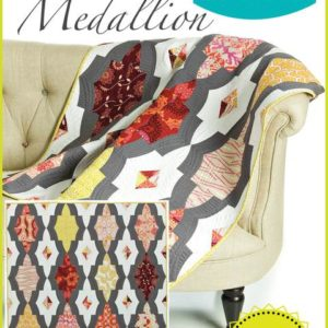Metro Medallion quilt pattern, QCR, quick curve ruler, sew kind of wonderful, curved piecing