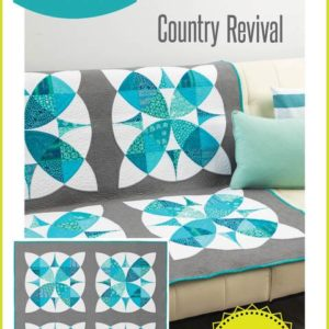 Country Revival quilt pattern, QCR, quick curve ruler, sew kind of wonderful, curved piecing