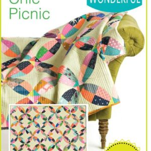 chic picnic quilt pattern, QCR, quick curve ruler, sew kind of wonderful, curved piecing
