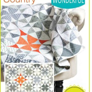 chic country quilt pattern, QCR, quick curve ruler, sew kind of wonderful, curved piecing