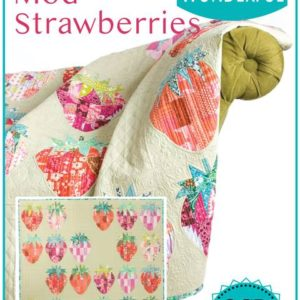 mod strawberries quilt pattern, QCR mini, quick curve ruler mini, sew kind of wonderful, curved piecing