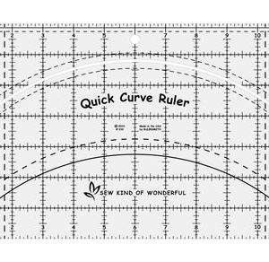 acrylic ruler, QCR, quick curve ruler, sew kind of wonderful, curved piecing