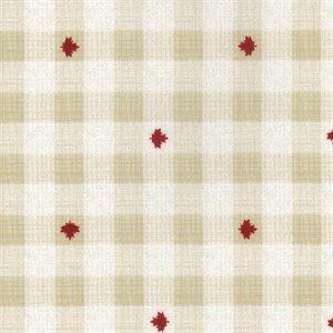 moda, kate & birdie, true north 2, maple leaf, maple, canada, red, 513215-14, cream