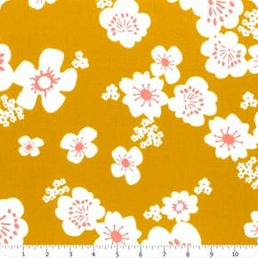 """108"""", pink, yellow, cream, cotton, sateen, floral, Ruby Star Society, wide back, quilt backing, Rashida Coleman Hale, whatnot"""