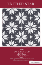 fair isle inspired knitted star quilt pattern by Brittany Lloyd