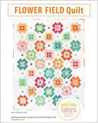 a flower block based quilt that goes together quickly