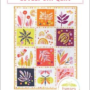 raw edge appliqué quilt pattern with organic shapes