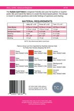 radiate quilt pattern fabric requirements