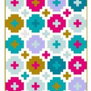 cross tile quilt pattern, emily dennis, quilty love, beginner, fat quarter friendly