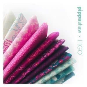 primavera, pippa shaw, FIGO fabrics, FIGO, pink, cream, green, burgundy, floral