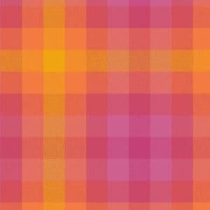 kaleidoscope, allison glass, andover, plaid, yellow, orange, pink, 9541, sunrise