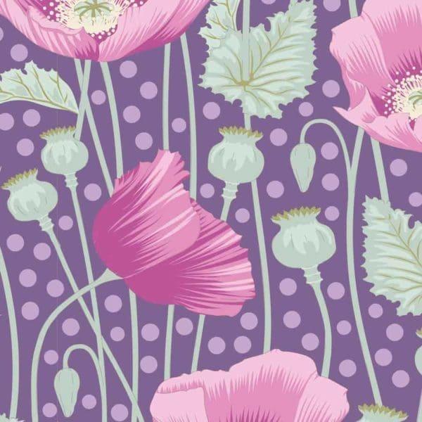 tilda, gardenlife, poppies lilac, 100306