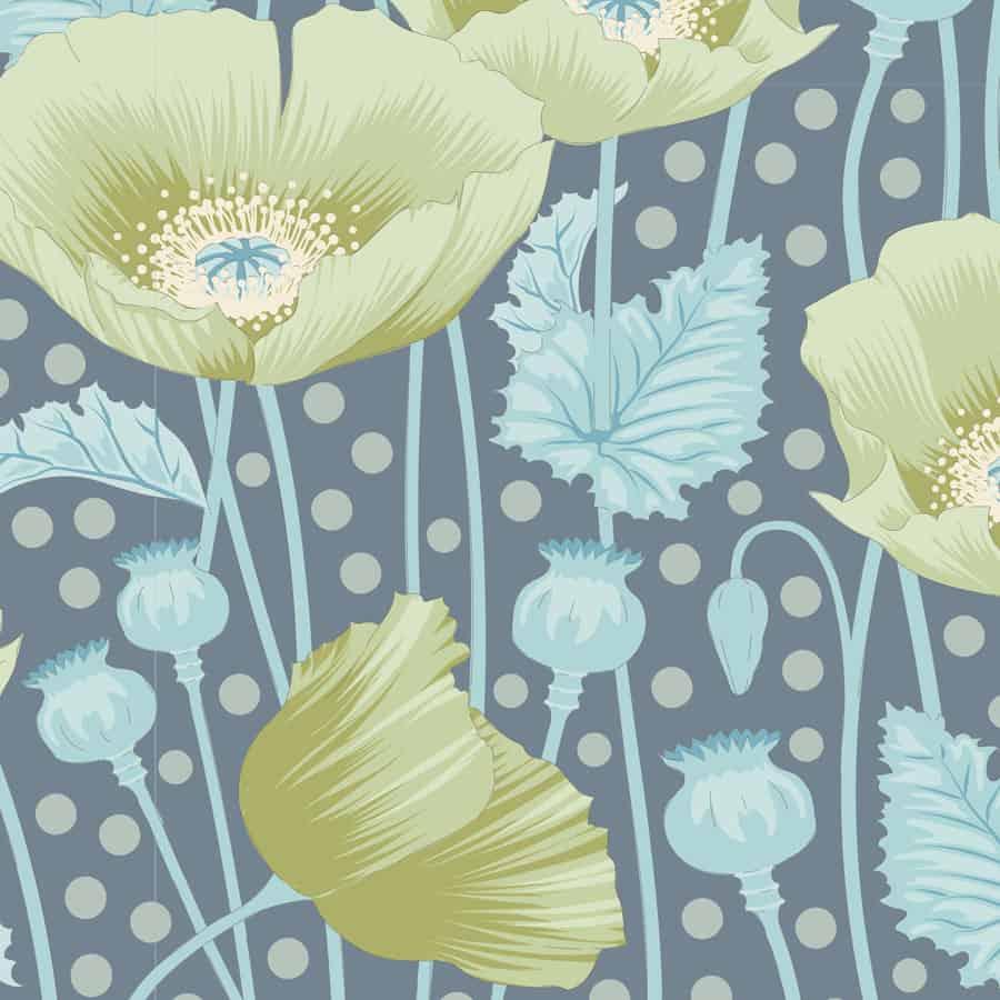 tilda, gardenlife, Poppies grey green, 100312