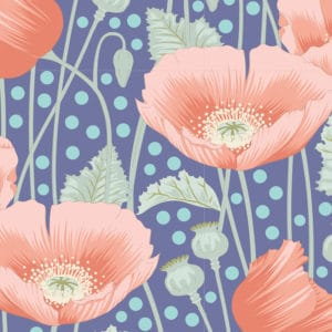 tilda, gardenlife, poppies blue, 100319