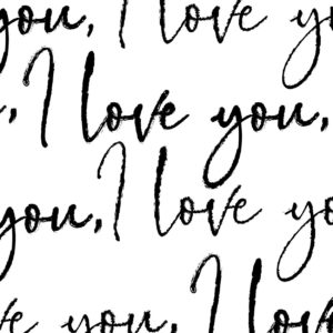 """I Love You by Cat Connolly for Devonstone Collection, wide back, 108"""""""